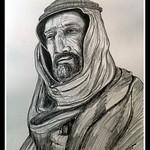 1a-Auda Ibu Tayi, leader of Arab Revolt, 1914-18  14x17, graphite pencil, aug 11, 2016 DSCN0284-A