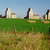 4 17 2014 Grain Elevators, along Prov hwy 547, Mossleigh, Alberta,  Aug 4, 1998