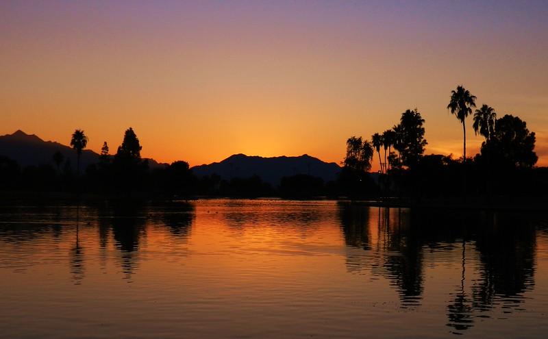 Sunset, Cesar Chavez Park, Laveen, AZ, jan 14, 2016a