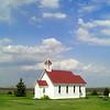 0052-North to Alaska -St Columba's Anglican Church,1853, at causway, Buffalo Pound Prov  Park, Sask , may 26, 2015, 405pm CIMG0059 3639x2183 CIMG0059