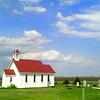 0053-North to Alaska -St Columba's Anglican Church, 1853, at causway, Buffalo Pound Prov  Park, Sask , may 26, 2015, 405pm CIMG0093