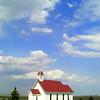 0051-North to Alaska -St Columba's Anglican Church, 1853, at causway , Buffalo Pound Prov  Park, Sask , may 26, 2015, 405pm CIMG0094